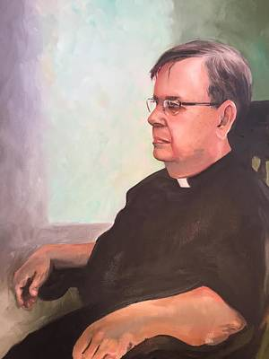 Painting - Father Ed by Mary C Haneline