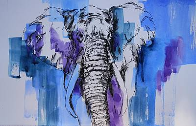 Painting - Father Elephant by Tara Moorman