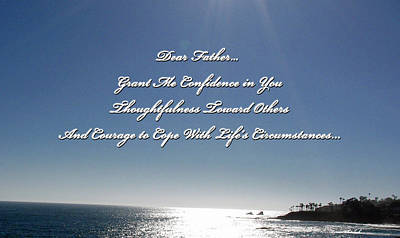 Photograph - Father Grant Me Confidence by Doreen Whitelock