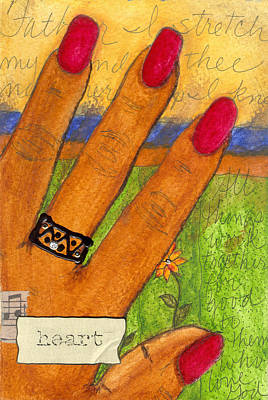 Religious Art Mixed Media - Father I Stretch My Hand To Thee by Angela L Walker