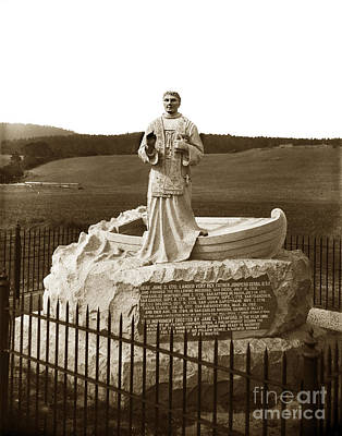 Photograph - Father Junipero  Serra, Granite Monument. Monterey Presidio 1891 by California Views Mr Pat Hathaway Archives
