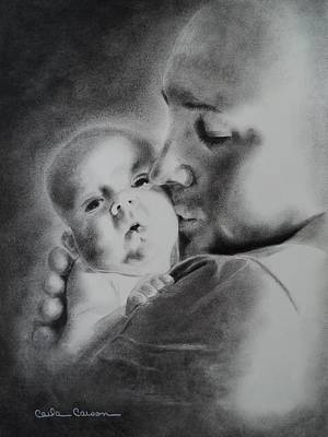 Drawing - Father N Son by Carla Carson