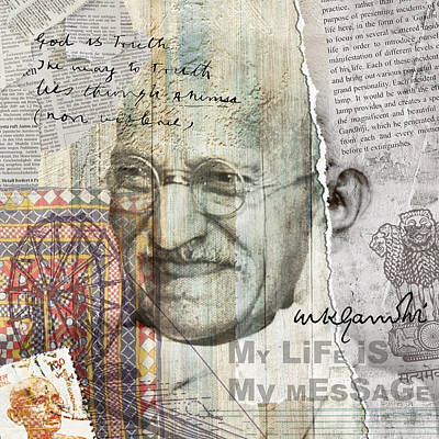 Digital Art - Father Of Nation by Sethu Madhavan