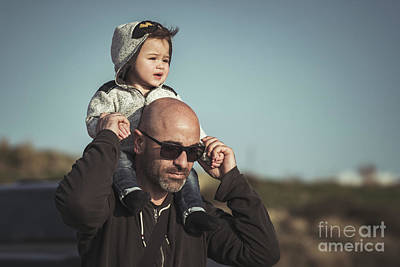 Photograph - Father Playing With His Little Son by Anna Om