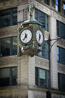 Father Time Photograph - Father Time Clock - Chicago by Daniel Hagerman