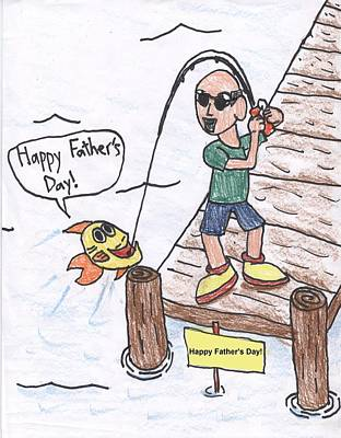 Drawing - Father's Day by Jayson Halberstadt