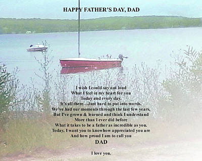 Digital Art - Father's Day Verse 1 by Ellen Barron O'Reilly