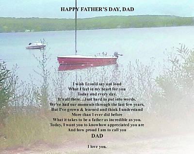Digital Art - Father's Day Verse 1 by Ellen O'Reilly