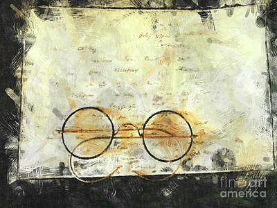 Wall Art - Photograph - Father's Glasses by Claire Bull