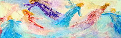 Deborah Brown Painting - Fathers Heart Angels by Deborah Brown Maher