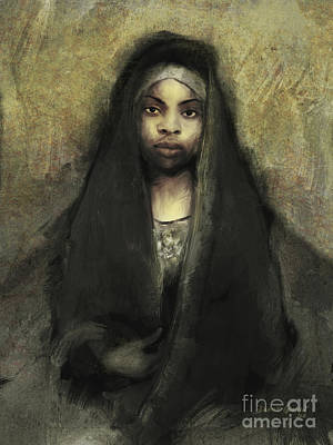 Art Print featuring the digital art Fatima by Dwayne Glapion