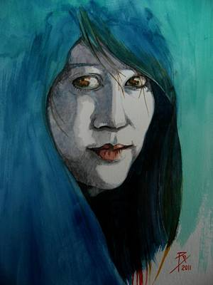 Fatima Art Print by Ray Agius