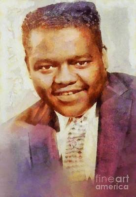 Music Paintings - Fats Domino, Music Legend by Esoterica Art Agency