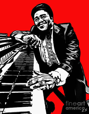 Photograph - Fats Domino by Sergey Lukashin