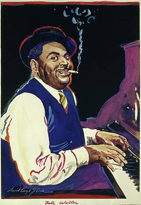 Jazz Painting Royalty Free Images - Fats Waller Royalty-Free Image by David Lloyd Glover