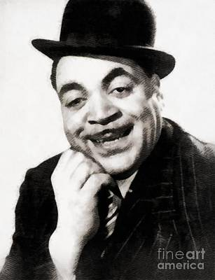 Music Paintings - Fats Waller, Music Legend by John Springfield by Esoterica Art Agency