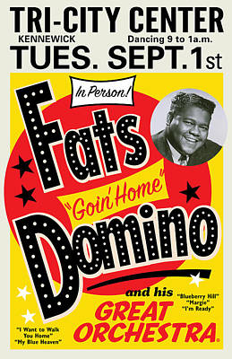 Painting - Fats Domino by Gary Grayson
