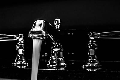 Photograph - Faucet With Running Water by Jeanette Fellows
