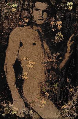 Digital Art - Faun In The Grotto - 2/5 by John Waiblinger