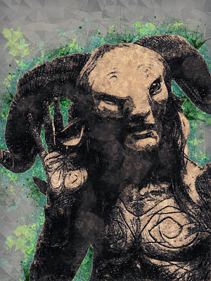Mixed Media - Faun - Pan's Labyrinth  by Studio Grafiikka