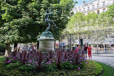 Digital Art - Faune Dansant In Montparnasse Gardens In Paris by Carol Ailles