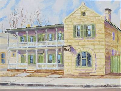 Mike Martin Painting - Faust Hotel by Mike Martin