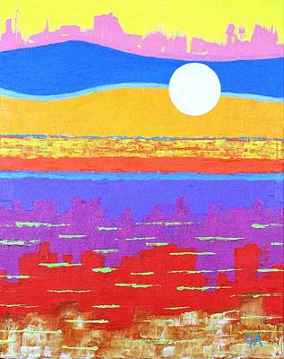 Painting - Fauvist Sunset by Jeremy Aiyadurai