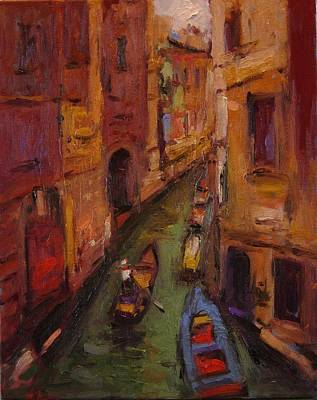 Fauvo Venice Art Print by R W Goetting
