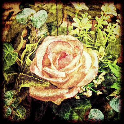Photograph - Faux Rose by Lewis Mann