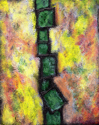 Multi-media Painting - Faux Tile Two by Wayne Potrafka