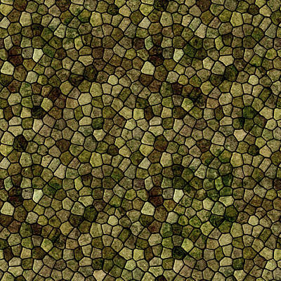 Digital Art - Faux Toad Skin Abstract Pattern by Taiche Acrylic Art
