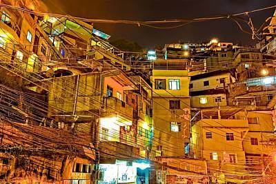 Art Print featuring the photograph Favela Night by Kim Wilson
