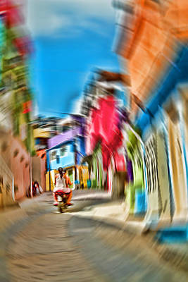 Art Print featuring the photograph Favela Vortex by Kim Wilson