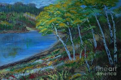 Painting - Favorite Fishin' Hole by Leslie Allen