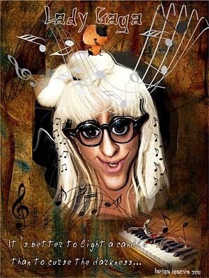 Mixed Media - Favorite Gaga by Larisa Isaeva