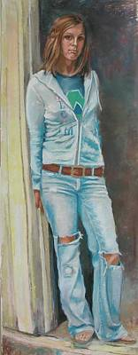 Painting - Favorite Jeans by Synnove Pettersen