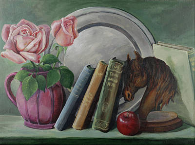 Bronze Plates Painting - Favorite Things by Margi Greene