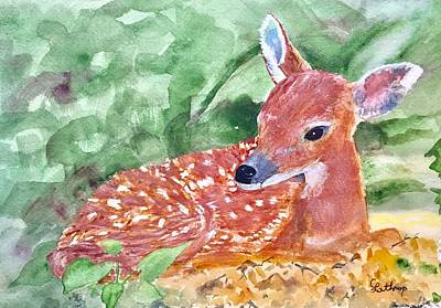 Painting - Fawn 2 by Christine Lathrop