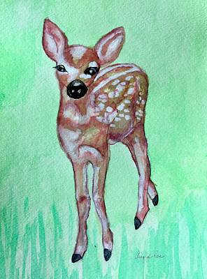 Painting - Fawn by Aingeal Rose
