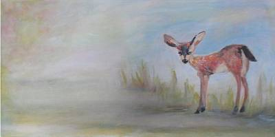 Painting - Fawn Day by Denice Palanuk Wilson