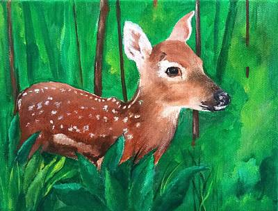 Painting - Fawn by Ellen Canfield