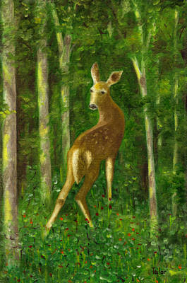 Painting - Fawn by FT McKinstry