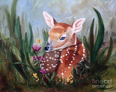 Painting - Fawn Innocence by Brenda Thour