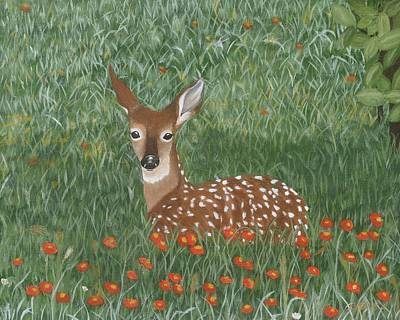 Painting - Fawn by Lucinda VanVleck