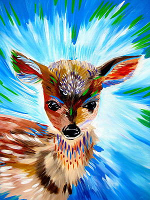 Fawn Spirit Art Print by Cathy Jacobs