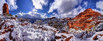 Manipulation Photograph - Fay Canyon Snowfall 1 by ABeautifulSky Photography