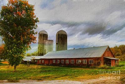 Corn Painting - Fay Farm by Deborah Benoit