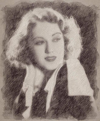 Celebrities Paintings - Fay Wray by Esoterica Art Agency