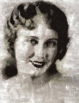 Elvis Presley Painting - Fay Wray, Vintage Hollywood Actress by Mary Bassett