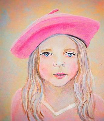 Fayanna Little French Angel Of Trust Art Print by The Art With A Heart By Charlotte Phillips